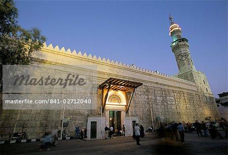Umayyad mosque at night, UNESCO World Heritage Site, Damascus, Syria, Middle East