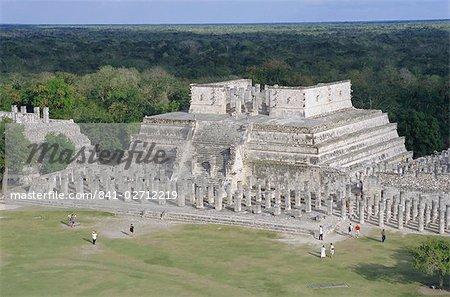 Temple de la Warriors, Chichen Itza, au Mexique, l'Amérique centrale
