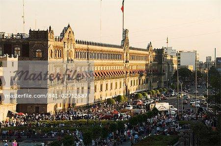 Le Palais National, Zocalo, Centro Historico, Mexico, Mexique, en Amérique du Nord