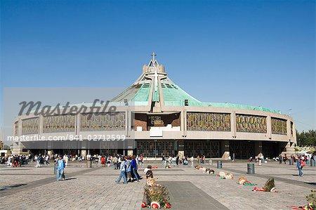 Basilica de Guadalupe, a famous pilgrimage center, Mexico City, Mexico, North America