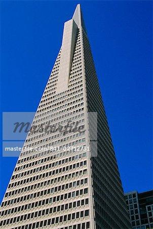 La TransAmerica Pyramid, à 260 m le plus haut bâtiment à San Francisco, Californie, États-Unis d'Amérique