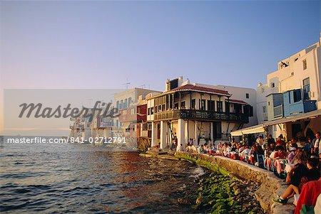 Petite Venise dans le Alefkandra district de Mykonos Town, Mykonos, Iles Cyclades, Grèce, Europe