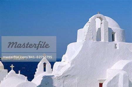 Église Paraportiani dans le district de Alefkandra de la vieille ville, Mykonos, Iles Cyclades, Grèce, Europe