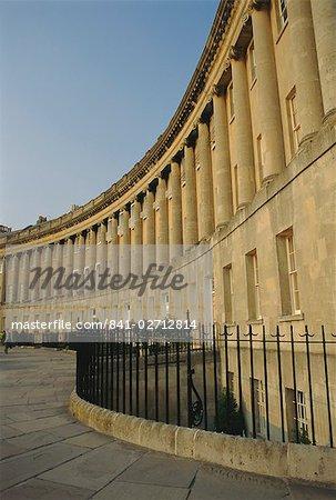 The Royal Crescent, Bath, Avon, England, UK
