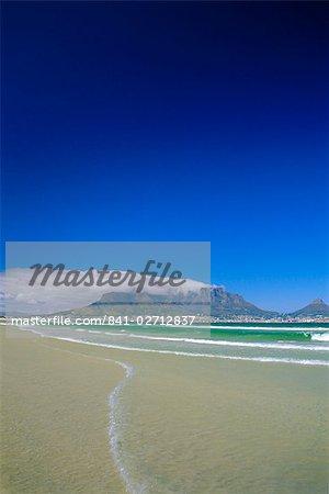 Montagne de la table de Bloubergstrand, Cape Town, Afrique du Sud
