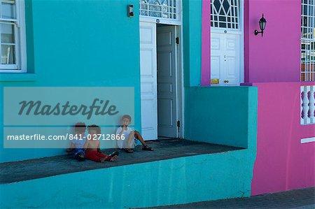 Maison la Bo-Kaap (quartier malais), Cape Town, Cape Province, Afrique du Sud, Afrique
