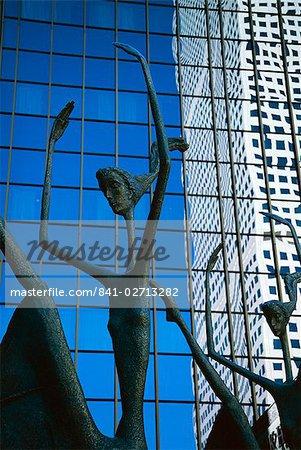 Ballet sculpture, 16th Street Mall, Denver, Colorado, États-Unis d'Amérique (États-Unis d'Amérique), Amérique du Nord