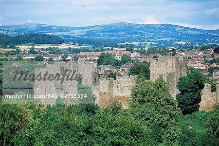 Ludlow Castle from Whitecliff, Shropshire, England, United Kingdom, Europe