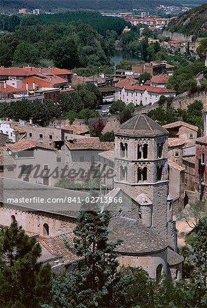 Vue sur la ville, Gérone, Costa Brava, Catalogne (Catalunya) (Catalunya), Espagne, Europe