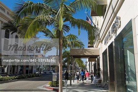 Rodeo Drive, Beverly Hills, Californie, États-Unis d'Amérique, l'Amérique du Nord
