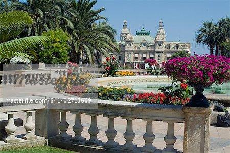 Casino and gardens, Monte Carlo, Monaco, Europe