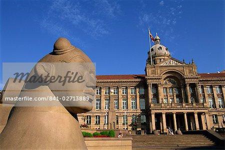 Guardian Statue et Council House, Victoria Square, Birmingham, Angleterre, Royaume-Uni, Europe