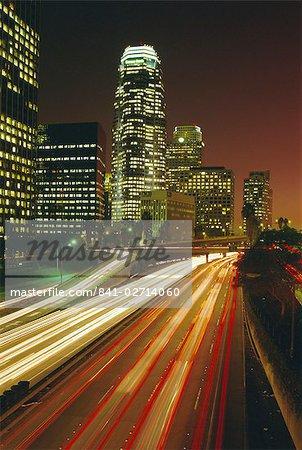 Ville de nuit, du centre de Los Angeles, Californie, États-Unis d'Amérique (États-Unis d'Amérique), Amérique du Nord