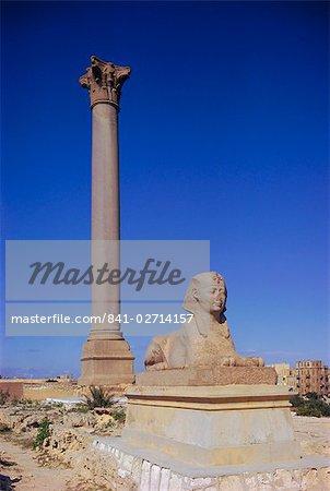L'Afrique du Nord de Pompey pilier, Alexandrie (Égypte)