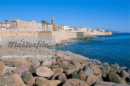 Alghero, province de Sassari, l'île de Sardaigne, Méditerranée, Europe