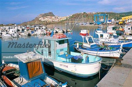 Castelsardo, province de Sassari, l'île de Sardaigne, Méditerranée, Europe