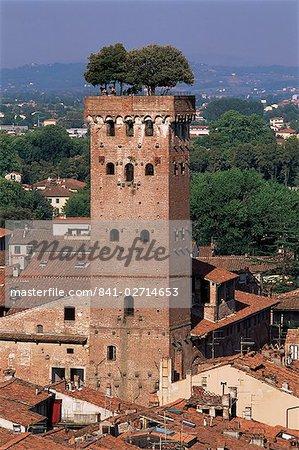 Tour des Guinigi, Lucca, Toscane, Italie, Europe