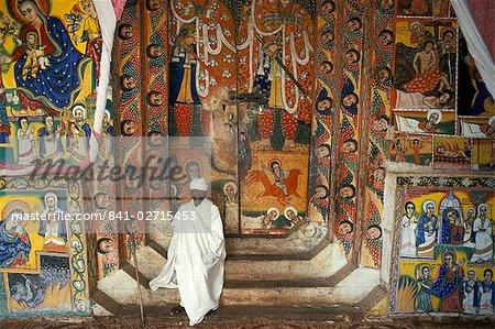 Ura Kedane Meheriet church, Zege peninsula, Lake Tana, Gondar region, Ethiopia, Africa