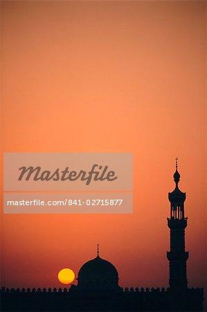 Mosquée minarets, Dubaï, Émirats Arabes Unis, Moyen-Orient
