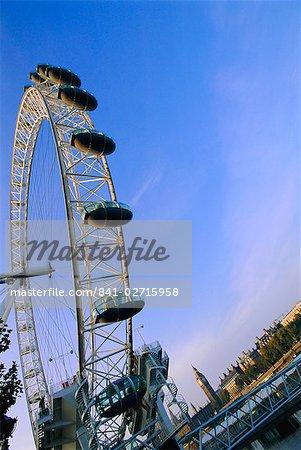 Das London Eye (Millennium Wheel), Themse, London, England, Vereinigtes Königreich, Europa