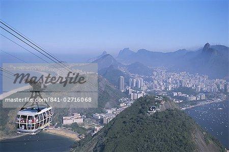 Seilbahn, Rio De Janeiro, Brasilien, Südamerika