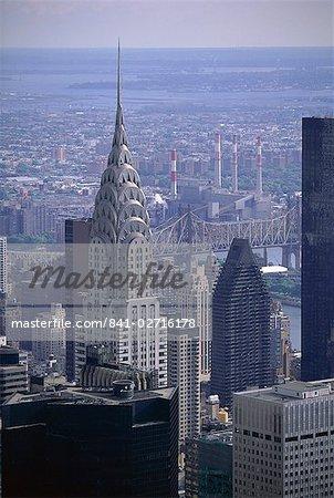 Chrysler Building sur city skyline, New York City, New York, États-Unis d'Amérique, Amérique du Nord