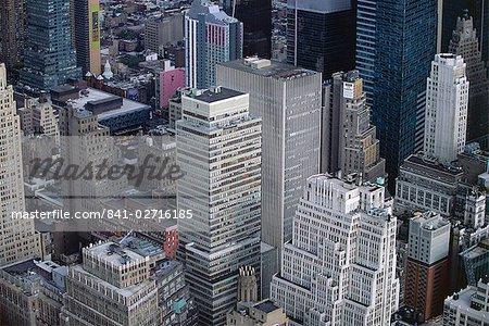 Vue aérienne de Manhattan gratte-ciels, New York City, New York, États-Unis d'Amérique, l'Amérique du Nord