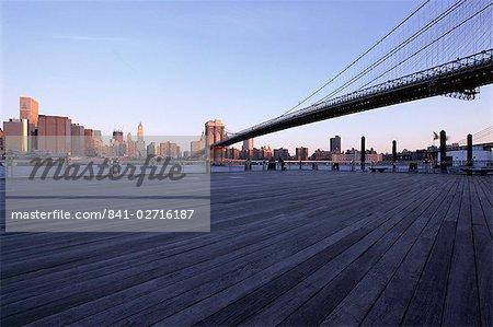Brooklyn Bridge, New York City, New York, États-Unis d'Amérique, en Amérique du Nord