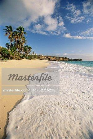 Plage, baie de fond, Barbade, Antilles, Caraïbes, Amérique centrale