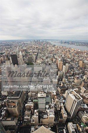 Over Manhattan, New York City, New York, United States of America, North America