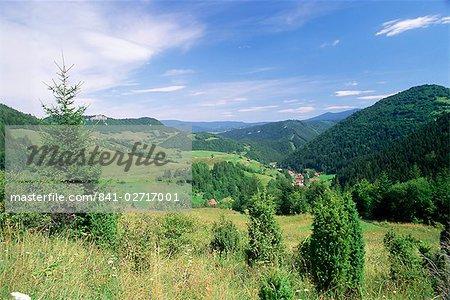 Paysages de la vallée village de Biela, Mala Fatra montagnes, Slovaquie, Europe