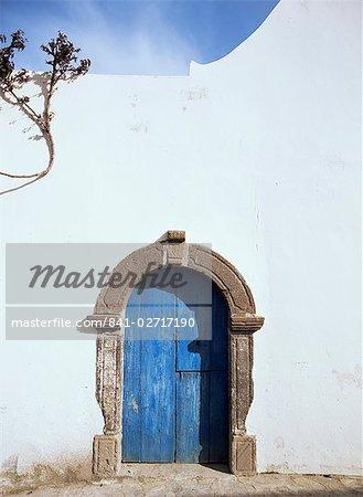 Bleu porte, Filicudi, Eoliennes (îles Eoliennes (îles Lipari), l'UNESCO World Heritage Site, Italie, Europe