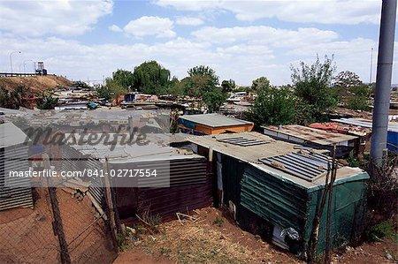Cabanes, à Soweto, Johannesburg, Afrique du Sud, Afrique