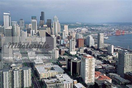 Vue aérienne de la ville skyline, Seattle, Washington, États-Unis d'Amérique, l'Amérique du Nord