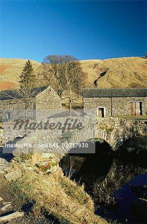 Watendlath village, Lake District, Cumbria, England, United Kingdom, Europe