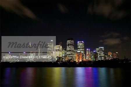 Downtown Sydney, Sydney by Night, New South Wales, Sydney, Australia