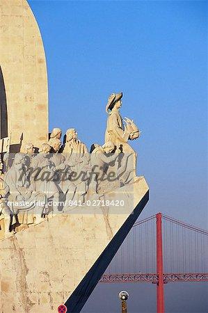 Henri le navigateur sur la proue du Padrao dos Descobrimentos, Monument à la découvertes, Belém, Lisbonne, Portugal, Europe