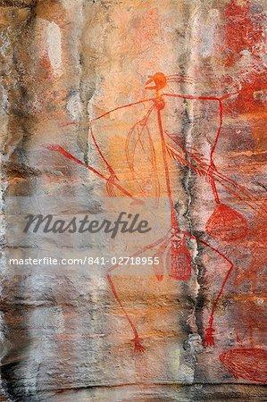Art rupestre aborigène, Ubirr, Kakadu National nominale, patrimoine mondial de l'UNESCO, Northern Territory, Australie, Pacifique