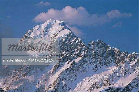 Mount Cook, Alpes du Sud, île du Sud, Nouvelle-Zélande, Pacifique