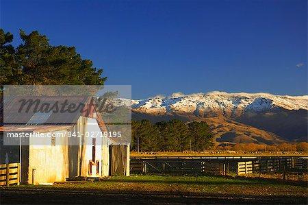 Ferme et gamme Dunstan, Central Otago, île du Sud, Nouvelle-Zélande, Pacifique