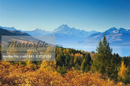 Lac Pukaki et Mount Cook, Canterbury, île du Sud, Nouvelle-Zélande, Pacifique