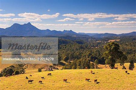Le Mont Warning et vallée de la Tweed, Nouvelle Galles du Sud, Australie, Pacifique