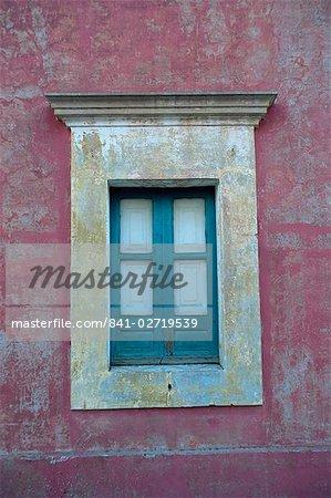 Détail de la fenêtre, île de Stromboli, Iles Eolie (Iles Eoliennes) (îles Lipari), Italie, Europe