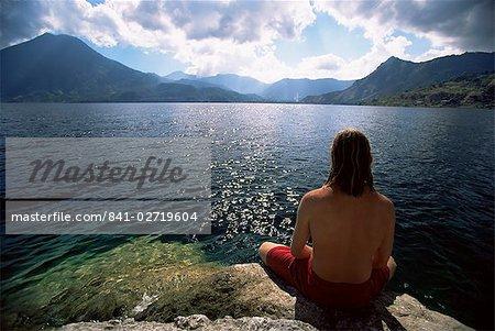Paysage, lac Atitlan (lac Atitlan), Guatemala, Amérique centrale