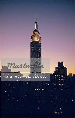L'Empire State Building, New York, New York État, États-Unis d'Amérique (États-Unis d'Amérique), Amérique du Nord