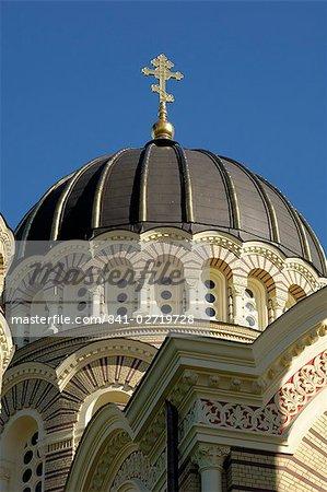 L'Europe, Riga, Lettonie, pays baltes, la cathédrale orthodoxe russe