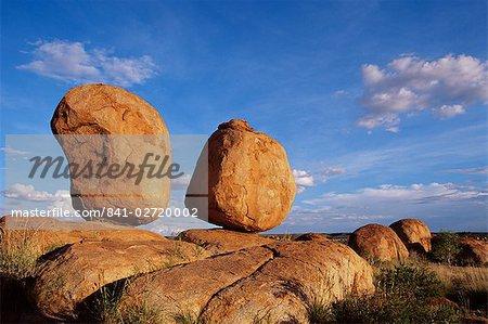 Rochers, réserve de Conservation des billes du diable, territoire du Nord, Australie, Pacifique