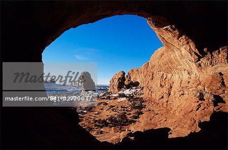 Double Arch, Parc National des Arches, Utah, États-Unis d'Amérique, l'Amérique du Nord