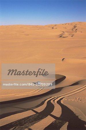 Awbari Erg, au sud-ouest du désert, la Libye, en Afrique du Nord, Afrique