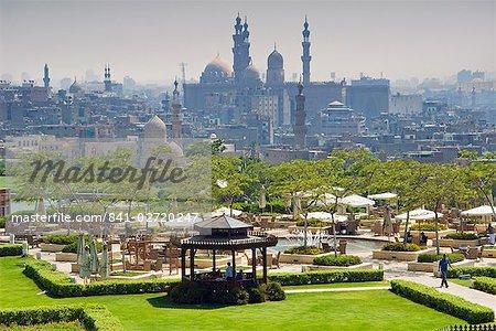 Al Azhar park and Islamic area, Cairo, Egypt, North Africa, Africa